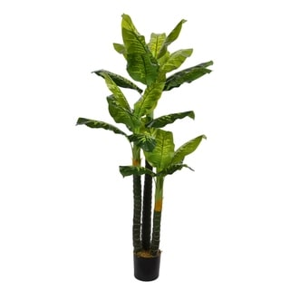72-inch Tall Evergreen in Pot Real Touch