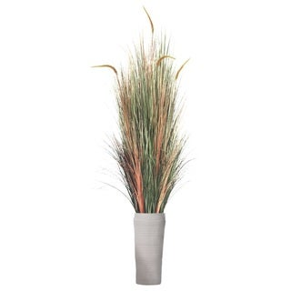 81-inch Tall Onion Grass with Cattail in Planter