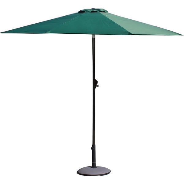 adeco 9 foot aluminum polyester patio umbrella with led