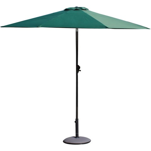 Adeco 9-foot Aluminum/Polyester Patio Umbrella with LED Lights (No Base Included)