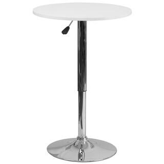 Round Adjustable Wood Table