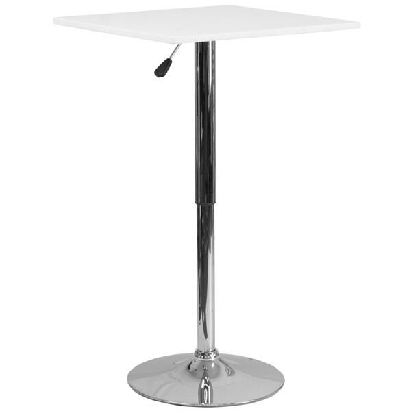 Square Adjustable Wood Table