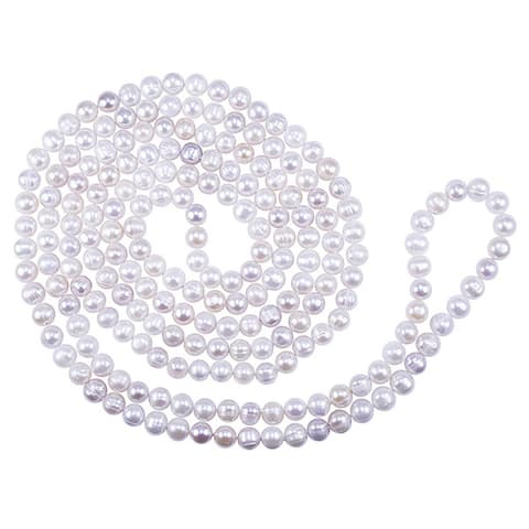 Multi Natural Pink Freshwater Pearl Necklace (9-9.5mm)