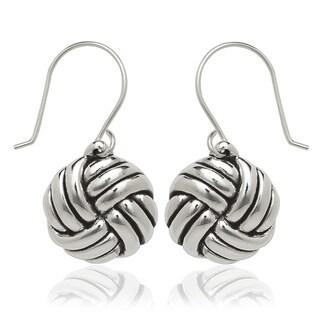 Sterling Silver Love-knot Drop Hook Earrings