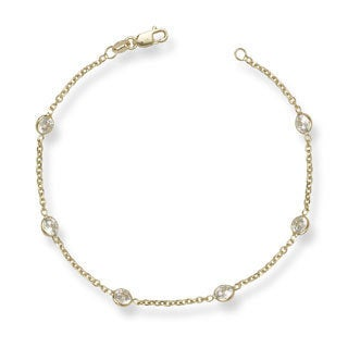 14k Cubic Zirconia by the Yard 7-inch Bracelet
