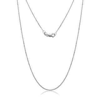 10k White Gold Light Cable Chain Necklace