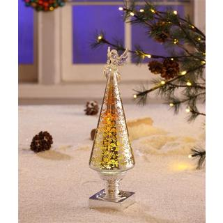 Gold Holiday Decor with a Angel Topper
