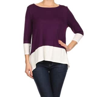 MOA Collection Women's Plus Size Color Block Tunic Top|https://ak1.ostkcdn.com/images/products/10642078/P17709731.jpg?impolicy=medium
