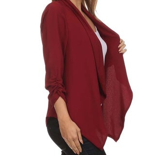 MOA Collection Women's Plus Size Draped Front Cardigan (3 options available)