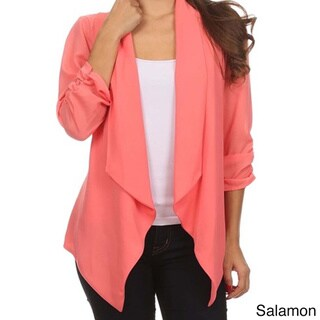 MOA Collection Women's Plus Size Draped Front Cardigan