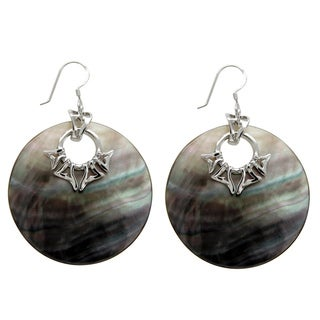 Sterling Silver River Shell Dangle Earrings