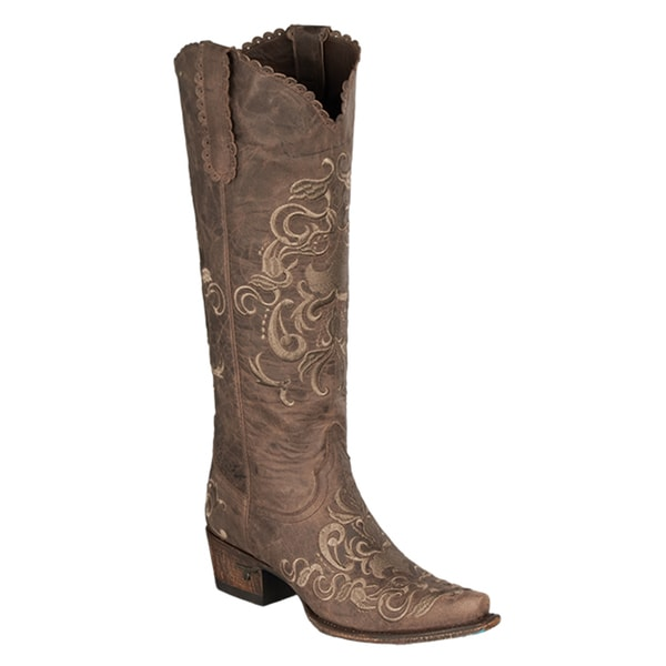 "Lane Boots ""Tiffany Emb"" Women's Leather Cowboy Boot"