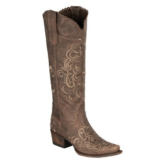 "Lane Boots ""Tiffany Emb"" Women's Leather Cowboy Boot"