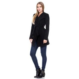 Stanzino Women's Wide Collar Belted Coat