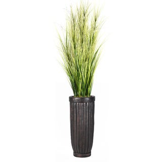81-inch Tall Onion Grass with Twigs in Planter