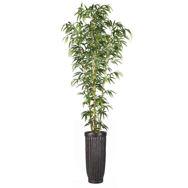 93-inch Bamboo Tree in Natural Poles in Planter