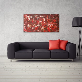 Carmen Guedez 'Red Matter' 24x48 Canvas Wall Art