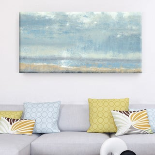 Studio 212 'Shoreline View' 24x48 Textured Canvas Wall Art