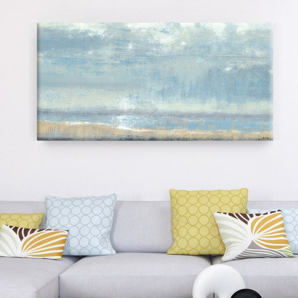 Studio 212 u0026#x27;Shoreline Viewu0026#x27; 24x48 Textured Canvas Wall Art & Shop Studio 212 u0027Shoreline Viewu0027 24x48 Textured Canvas Wall Art ...