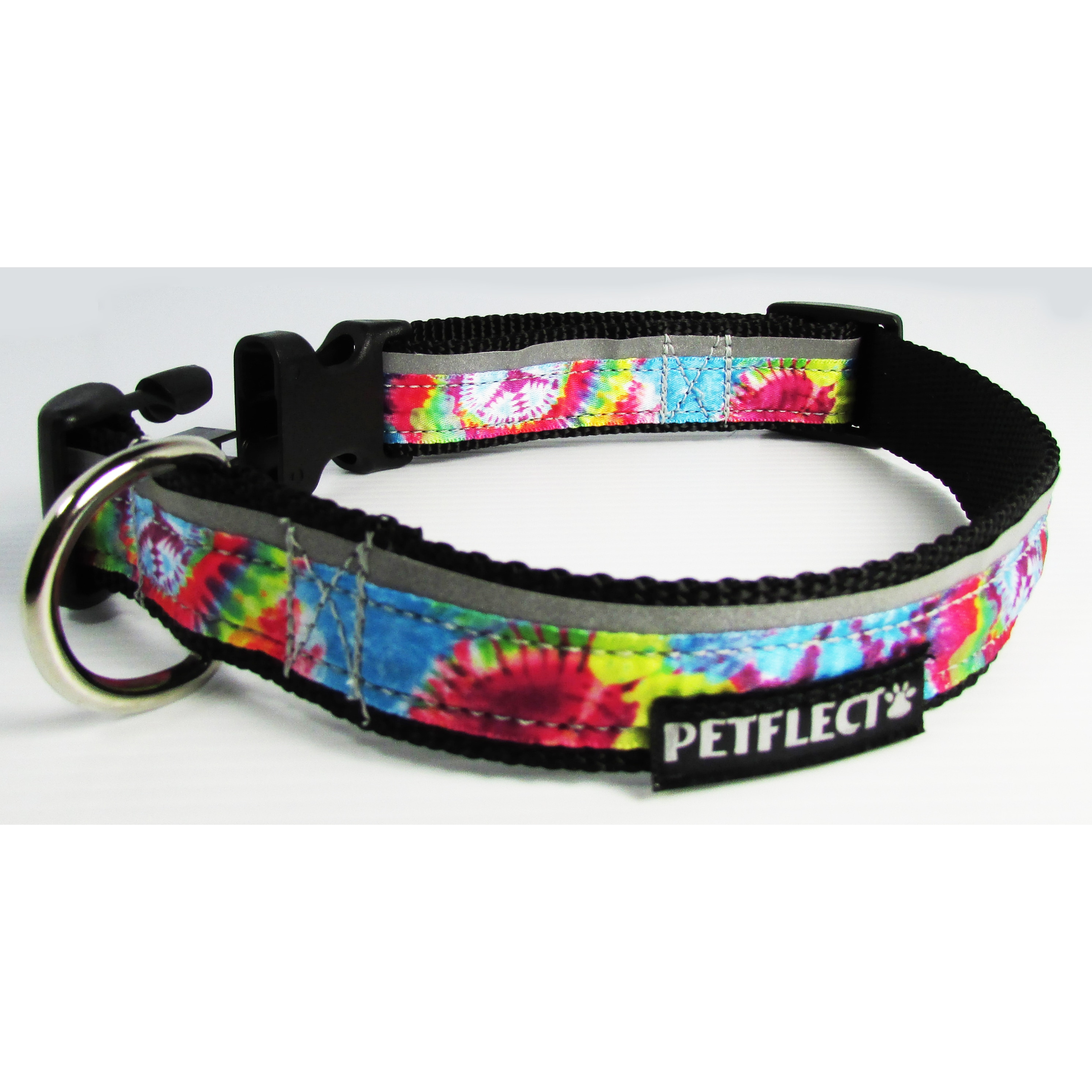 "Petflect Tie Die Reflective Dog Collar (Large: 20""-26"" Ne..."