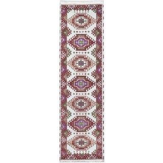 Ecarpetgallery Royal Kazak Blue/ Red Wool Area Rug (2' x 9')