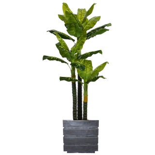 78-inch Real Touch Evergreen in Planter