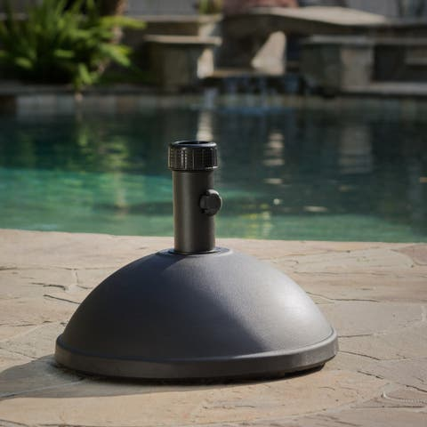 Berdan Outdoor Dome Concrete Umbrella Holder by Christopher Knight Home