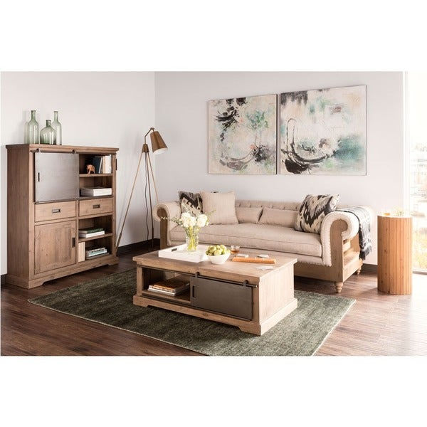 Shop Aurelle Home French Reclaimed Storage Coffee Table