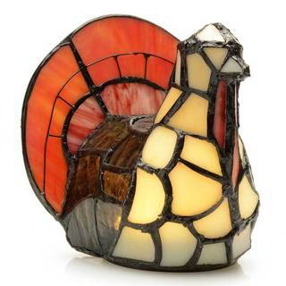 Tiffany-Style Choice of Critter Wireless LED Stained Glass Accent Lamp