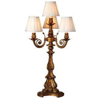 Downton Abbey Aristocratic Collection Ornate Gold 4-arm Table Lamp