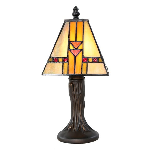 River of Goods 11-inch Stained Glass Accent Lamp
