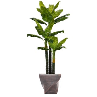 82-inch Tall Real Touch Evergreen in Planter