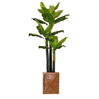 81-inch Tall Real Touch Evergreen in Planter