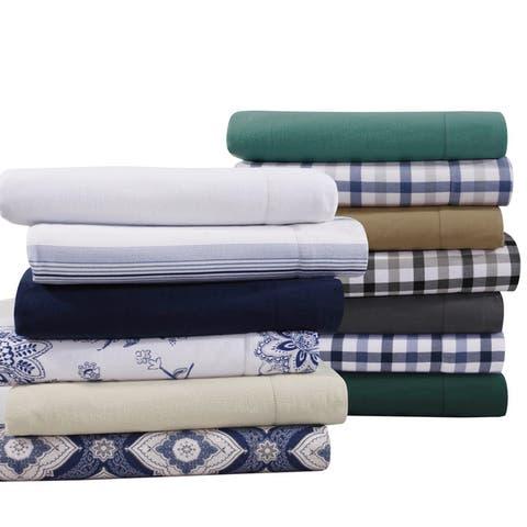 Flannel 200-GSM Solid or Printed Extra Deep Pocket Bed Sheet Set