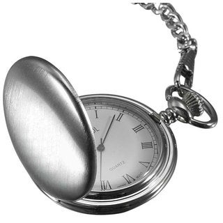 Visol Scipio Brushed Chrome Quartz Pocket Watch