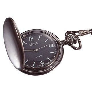 Visol Benson Brushed Gunmetal Japanese Quartz Pocket Watch