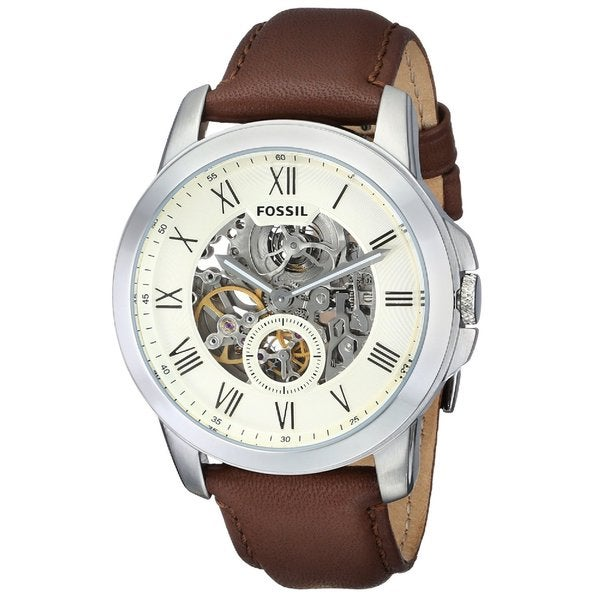 4c27d2390f1 Shop Fossil Men s ME3052  Grant  Multi-Function Automatic Brown ...