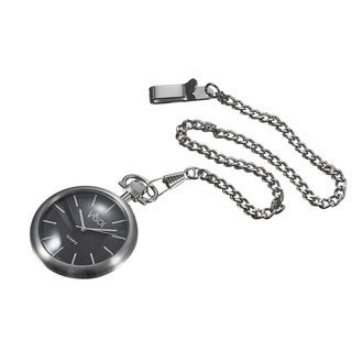 Visol Presley Black Dial Stainless Steel Quartz Pocket Watch