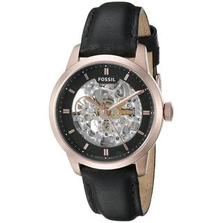 Fossil Men's ME3084 'Townsman' Automatic Black Leather Watch