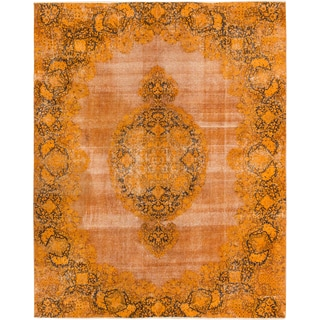 Ecarpetgallery Color Transition Orange Wool Area Rug (8'5 x 10'7)