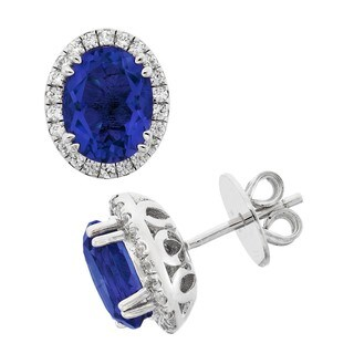 Isla Simone Fine Jewerly Platinum Plated Sterling Silver Facet Cut Pave CZ Earring