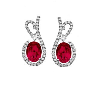 Isla Simone Fine Jewelry Platinum Plated Sterling Silver Floral Lace Cubic Zirconia Earrings
