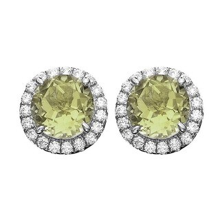 Isla Simone Fine Jewelry Platinum Plated Sterling Silver Round Cut CZ Earring