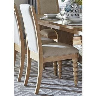 Cottage Harbor Sand Linen Upholstered Side Chair