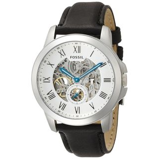 Fossil Men's ME3053 'Grant' Multi-Function Automatic Black Leather Watch