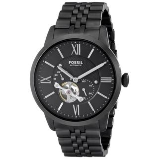 Fossil Men's ME3062 'Townsman' Multi-Function Automatic Black Stainless Steel Watch