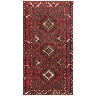 Ecarpetgallery Royal Baluch Red Wool Area Rug (3'7 x 6'10)