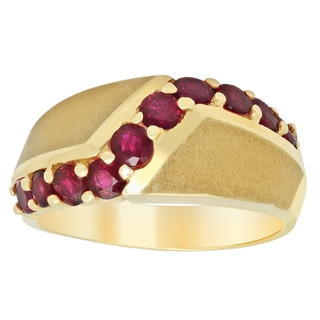 14k Yellow Gold 1ct TGW Ruby Ring