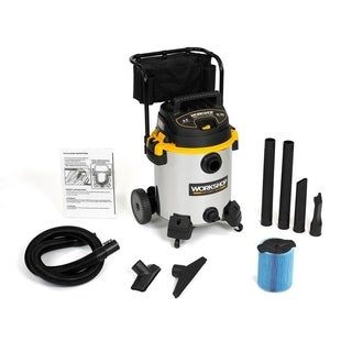 WORKSHOP Wet Dry Vac WS1600SS 6.5 Peak HP, 16 gal. Stainless Steel Heavy Duty Wet/ Dry Shop Vacuum Cleaner