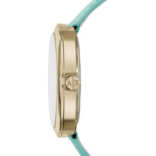Armani Exchange Women's AX4228 'Jullietta' Crystal Green Leather Watch